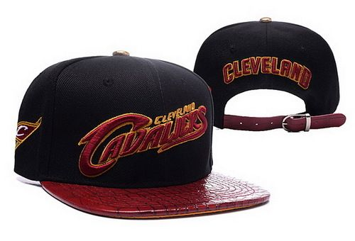 NBA Cleveland Cavaliers Black/Wine Strapback Hats Brim Shine Leather|only US$8.90 - follow me to pick up couopons.