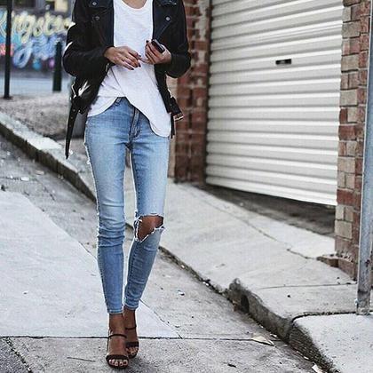 10 ακαταμάχητοι τρόποι να φορέσετε το λευκό Τ-Shirt #SimpleStyle | μοδα , street style | ELLE