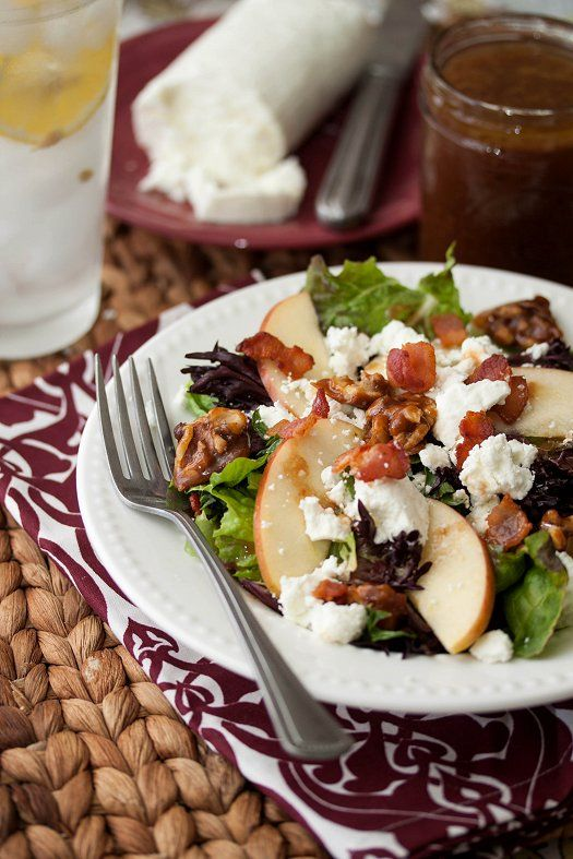 Apple, Bacon, & Goat Cheese Salad | Tide & Thyme