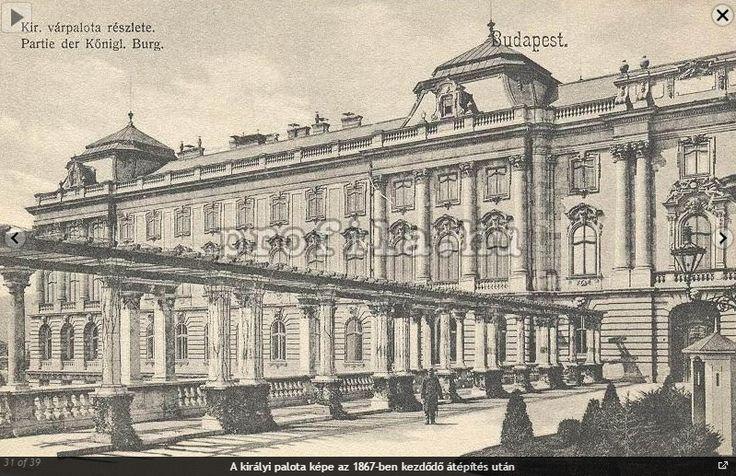 Budavári Palota Újvilág kertjének részlete, az 1867-ben kezdődő átépítés után
