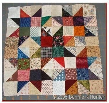 Scrap Crystal block from Bonnie Hunter...in the new 100 block magazine.