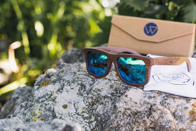 Wicked Ceres - Wooden Sunglasses with engraved Tribal that float's