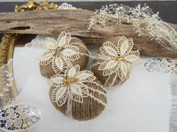 Handmade- styrofoam rustic easter eggs. They would make a