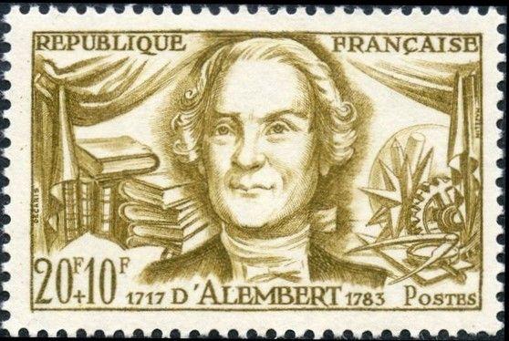 フランス 有名な人々 -ダランベール 1959年6月13日 ジャン=バティスト・ルロンドダランベール(1717年から1783年)は、フランスの数学者、物理学者、哲学者、および音楽理論家でした。波動方程式の解を得るための彼の式は時々ダランベールの式と呼ばれています。彼は、偏微分方程式の研究と物理学におけるそれらの使用の先駆者であった。 (彫刻家:アルバートDecaris)