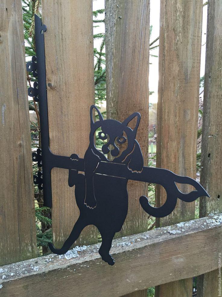 """Купить Кронштейн """"Котик"""" - кашпо, котик, кошка, кот, украшение экстерьера, украшение интерьера, цветы"""