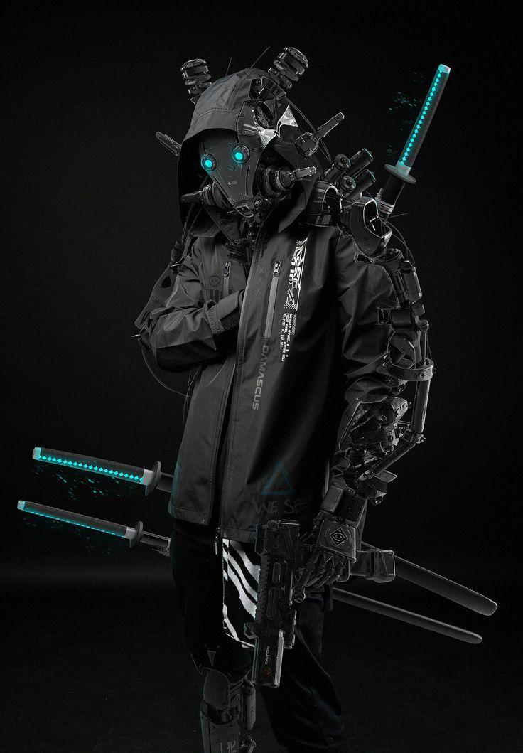 by Ahmet Atıl Akar | Cyberpunk character, Ninja art, Cyberpunk