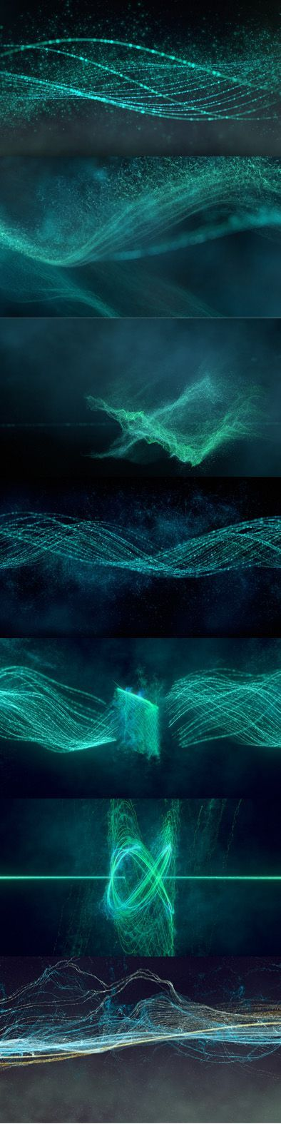 'Oscillate' - Thesis Animation of Sine Waves by Daniel Sierra: