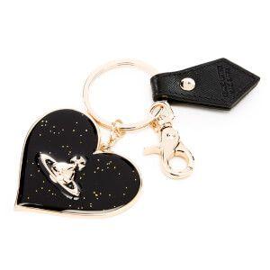 Vivienne Westwood Women's Mirror Heart Keyring - Black