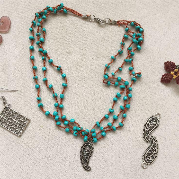 #bohem #bohemian #boho #bohemic  #kolye #necklace #izmir #style #fashion #moda #takı #mavi #blue #summer #yaz