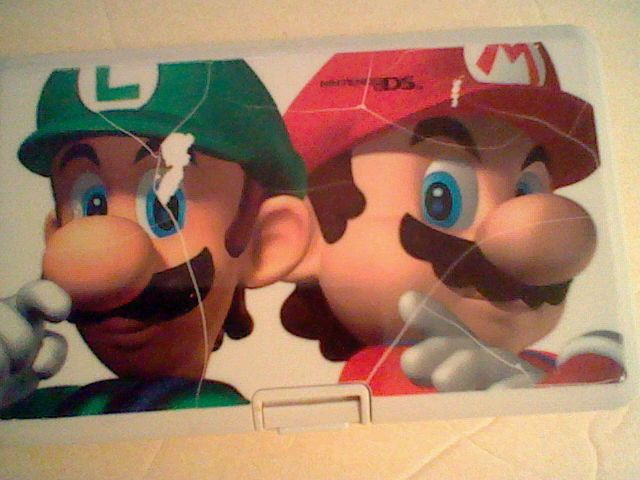 SCUFFED & PARTLY BROKEN! Super Mario Luigi Bros Theme Nintendo DS Game Mini Case