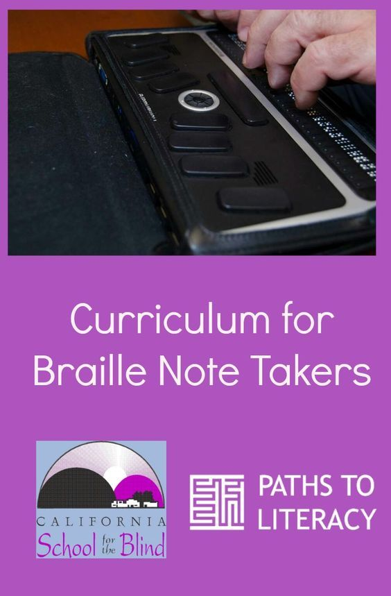 """This braille note taker curriculum features lesson plans and """"how to"""" documents!"""