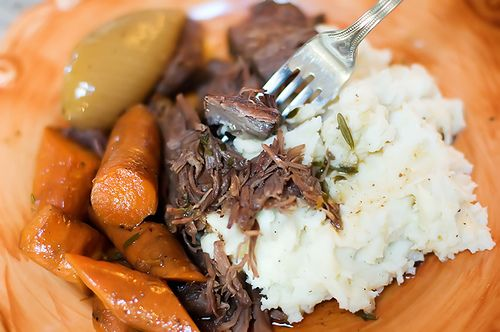 Perfect pot roast by the Pioneer Woman-- Pinner wrote:THE BEST POT ROAST I've EVER Made!! Takes a little more time but SOOO worth it!! My husband really loved the carrots. I also did the same recipe but used the crock pot instead. NOT the same, veggies were really mushy. Do it just like the recipe, the instructions are step by step photos