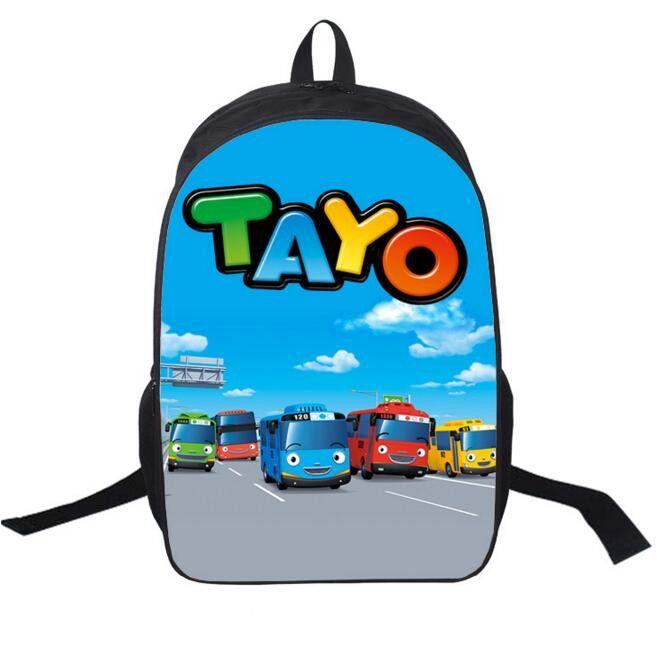 16Inch TAYO Backpack Double Zipper Backpack Boys Mochila Masculina Schoolbag Korea Mochila Escolar Kid Free Shipping