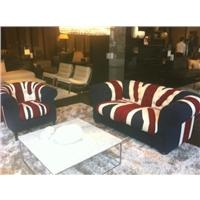 #Natuzzi Queen chair and King sofa re-covered as #Union #Jack #Flag by @Melanie Porter & #auctioned for #charity @FTCT. Natuzzi celebrated #Jubiliee in style.