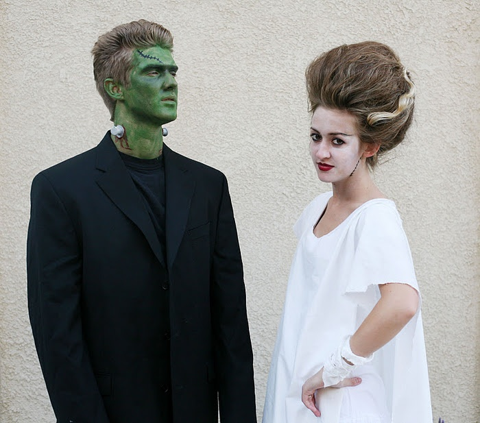 30 best couple costumes images on pinterest costume ideas couple frankenstein and the bride you cant get much more classic halloween than this needed black suit and shirt green and white face paint body tape for solutioingenieria Image collections