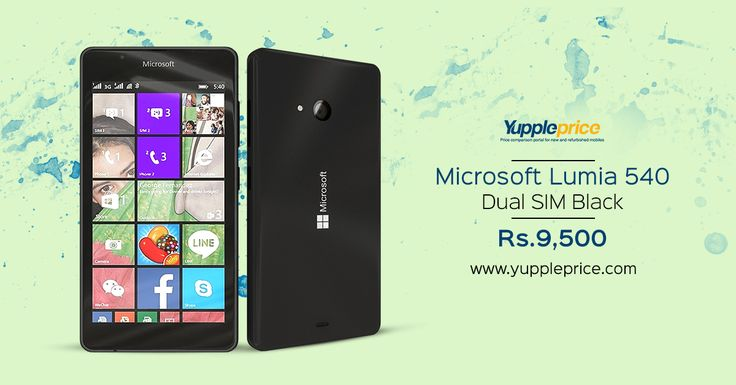 Microsoft Lumia 540 8GB in Rs.9500/- | 5-inches | 8 GB + 128 GB Expandable.