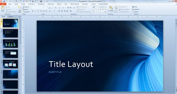 free tunnel powerpoint background and technology template
