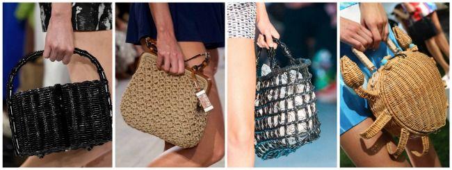 плетеные сумки весна лето 2015