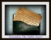 Copper Hand Stamped - Anniversary Gift Insert Card - 7th Anniversary - 300 character maximum  - Great Fathers Day Gift!