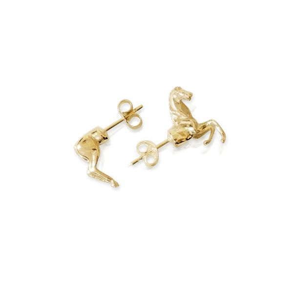 gold-plated horse studs by smith/grey
