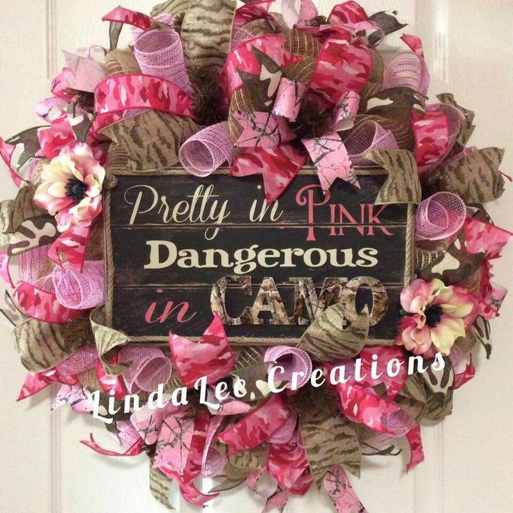 Pretty in pink camo wreath