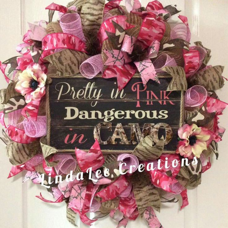 Pretty in pink camo wreath