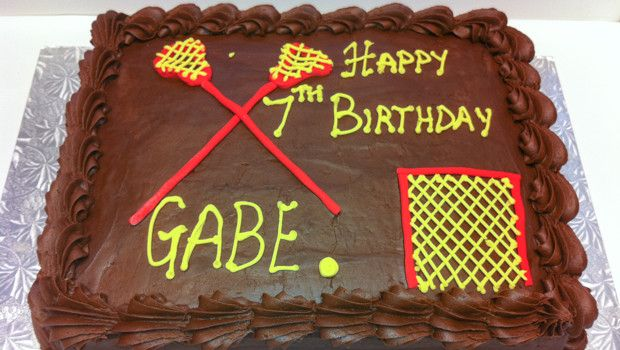 Birthday cake for the young lacrosse player
