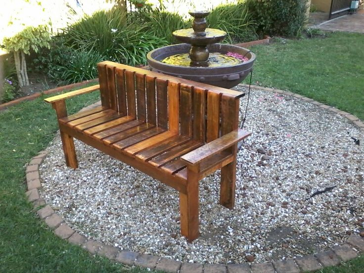 Up-cycled garden bench .Proceeds in registered Non- profit Organization Hands of Honour (no 086/155)