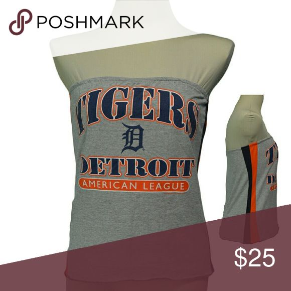 """Detriot Tigers Grey Baseball T Shirt handmade Detriot Tigers Grey Baseball T Shirt handmade from an upcycled cotton/poly t shirt.  Shirts are all handmade and may have side or back panels of cordinating colors   SIZE CHART Small fits 32""""-34"""" Medium fits 34""""-36"""" Large fits 36""""-38"""" XL fits 38""""-40"""" XXL fits 40""""-42"""" Tops Tees - Short Sleeve"""