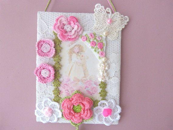 Baby Flower Decor Lace fabric Ornament by CrossStitchElizabeth