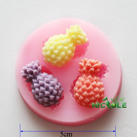 F0517 New Soap Silicone Fondant Cake Chocolate Mold craft Decorating Pineapple