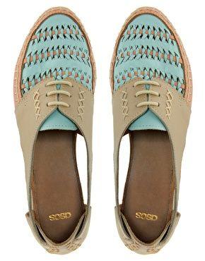 ASOS JUKEBOX Leather Flat Shoes