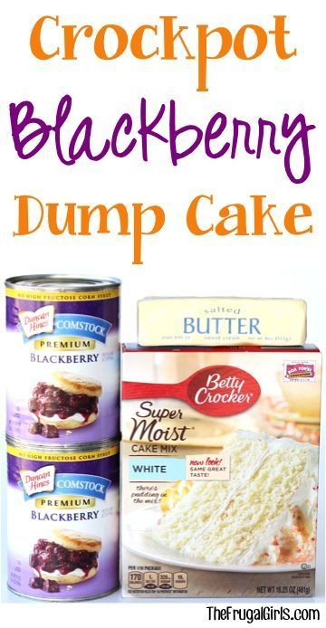 Crockpot Blackberry Dump Cake Recipe! ~ at TheFrugalGirls.com ~ this delicious dessert is SO easy... just dump it in the Slow Cooker and walk away!