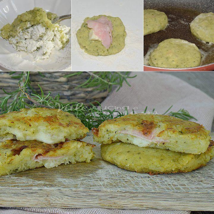Focaccine di patate e pesto farcite
