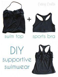 Busty Girl Problems - Supportive Swimwear - Cutesy Crafts