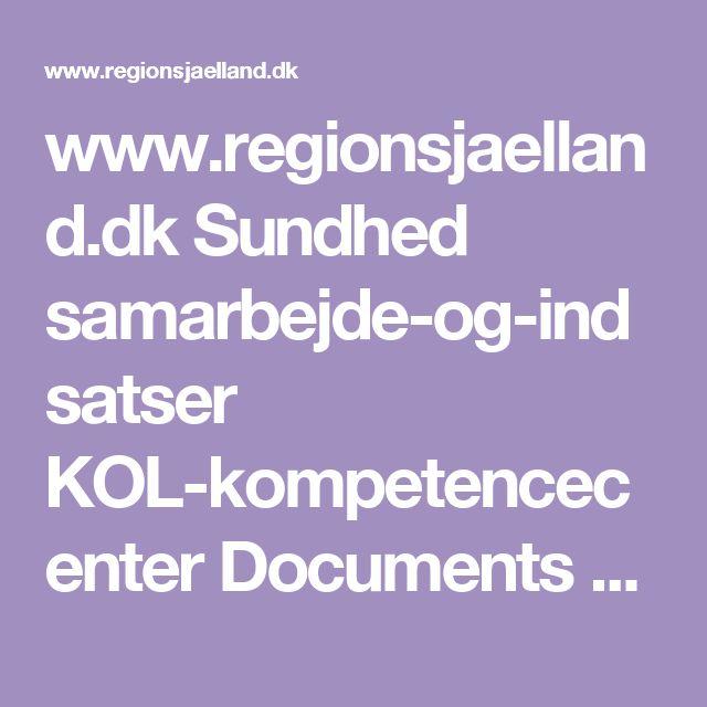 www.regionsjaelland.dk Sundhed samarbejde-og-indsatser KOL-kompetencecenter Documents Menukort Menukort.pdf