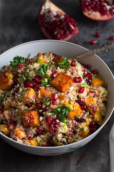 Roasted Butternut Squash Quinoa Salad by Food Fanatic on http://foodiecrush.com