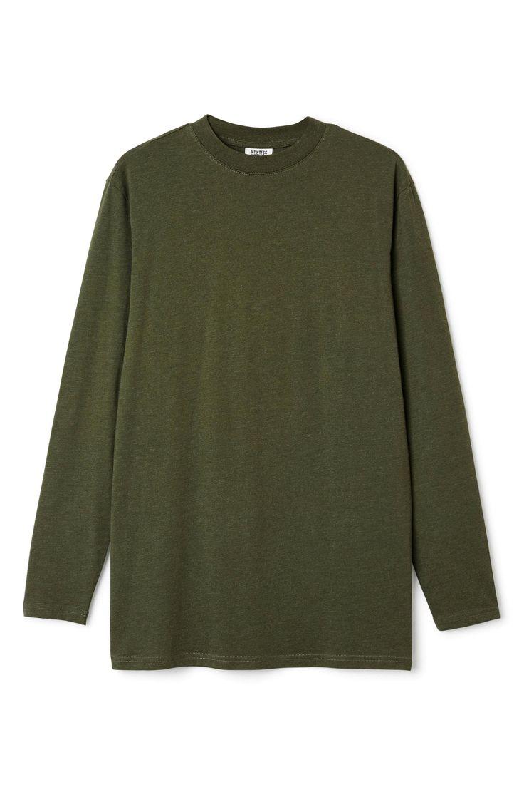 Jake Long Sleeve in Khaki Green