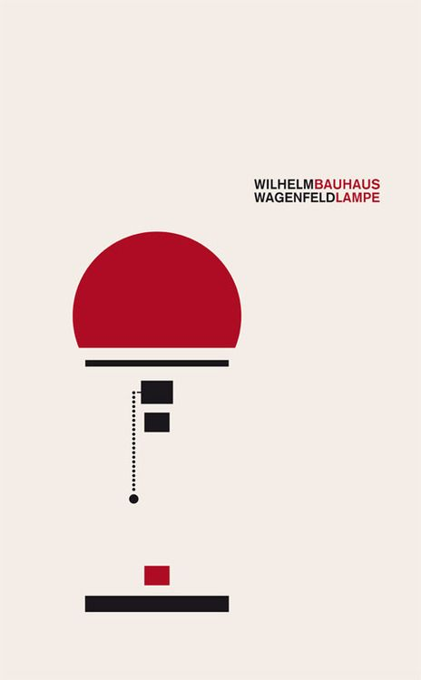 Cool graphic by Allessia Celentano to depict a William Wagenfeld lamp