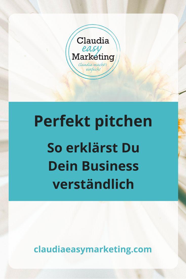 Dein #Business einfach erklärt mit dem perfekten #Pitch