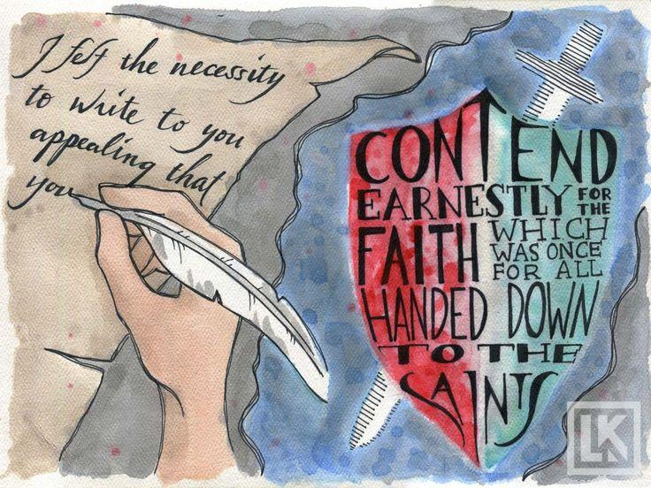 Jude bible verse art
