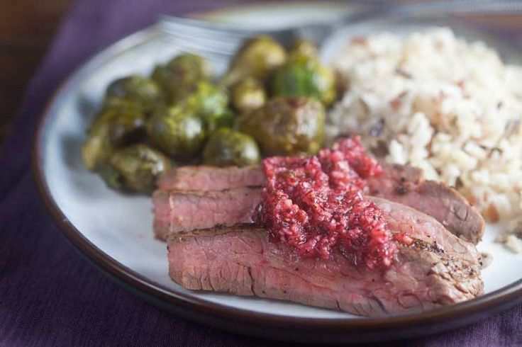Coffee-Rubbed Steak with Cranberry Salsa - Healthy. Delicious.