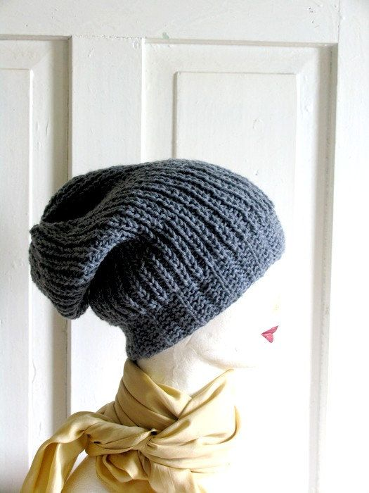 Winter Hat Hand Knit Hat Autumn Accessories Men's by recyclingroom, $29.00