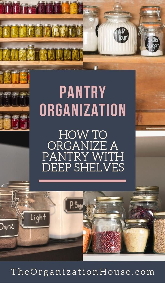 how to organize a pantry with deep shelves deep shelves deep pantry organization pantry on kitchen organization no pantry id=54944