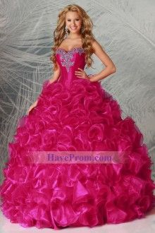 Brightly Colored Quinceanera Dresses Sweetheart Floor Length Ball Gown Pick Up Ruffled Skirt - US$ 304.91