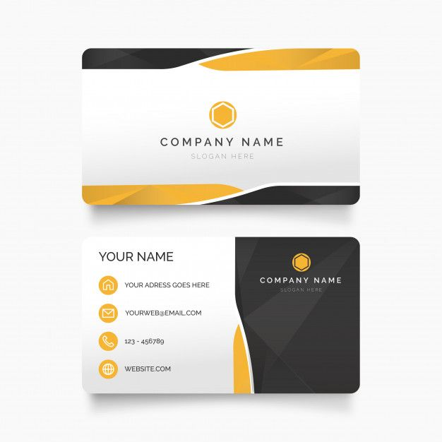 Modern Professional Business Card Free Vector Free Vector Freepik Vector Freebackgro Professional Business Cards Free Business Cards Custom Business Cards
