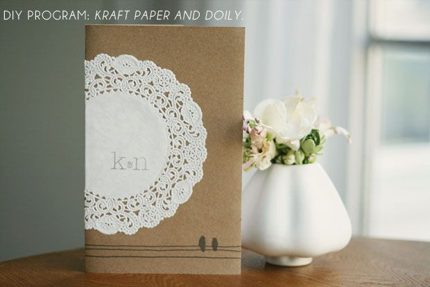 Wedding Order of Service / Invitation with Doily