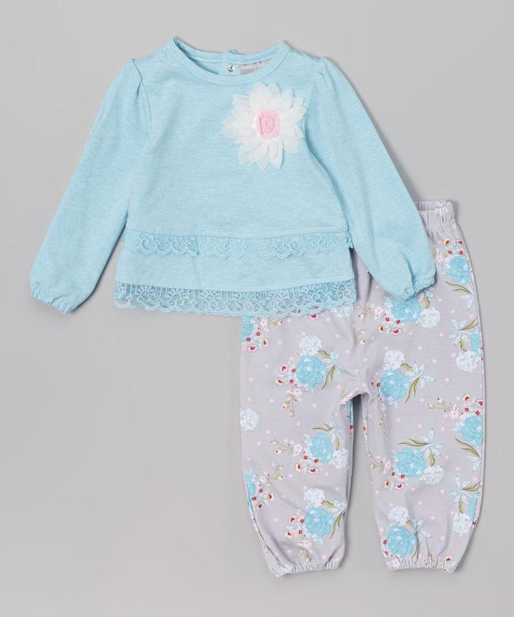 Wendy Bellissimo Turquoise Top & Bubble Pants Infant