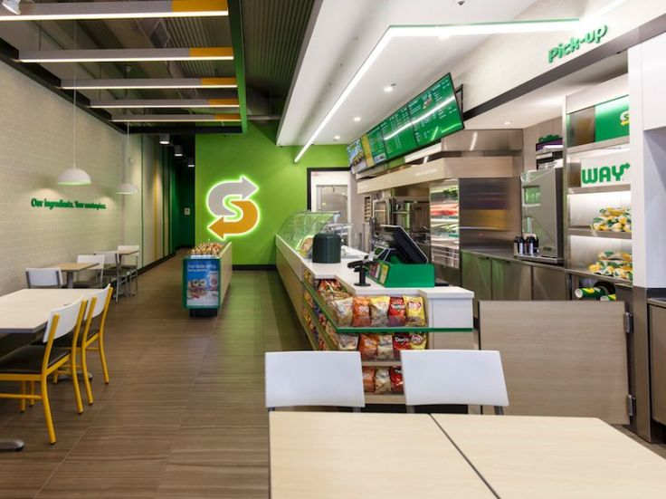 The new locations look a lot brighter than your typical Subway store.
