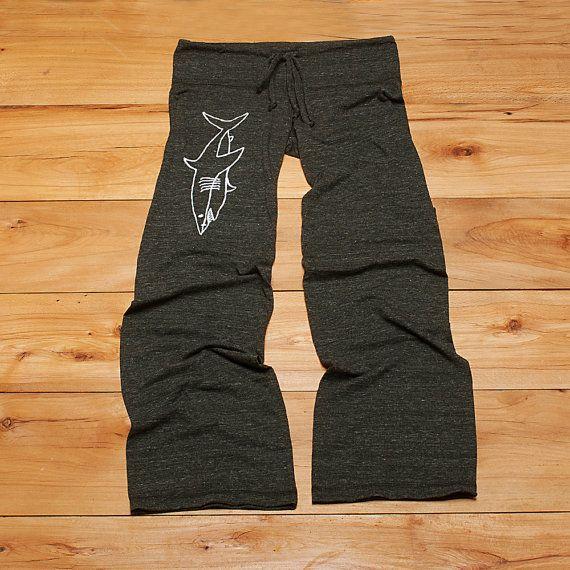 swimming in the deep end Shark Pants, Yoga Pants, Maternity Pants, S,M,L,XL